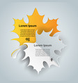 leaf six slice paper infographic vector image vector image