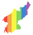 lgbt spectrum dotted north korea map vector image