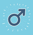 male sex symbol circle icon vector image vector image