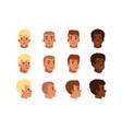 men head avatars set vector image