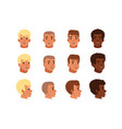 men head avatars set with vector image vector image