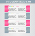 Modern infographic pink and grey design template vector image vector image