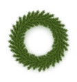 new year and christmas wreath pine branches vector image