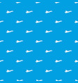 origami airplane pattern seamless blue vector image