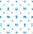 ornate icons pattern seamless white background vector image vector image