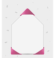 paper with ribbon in corners vector image vector image