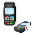 payment terminal isolated on white vector image