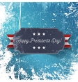 Realistic Happy Presidents Day greeting Card vector image vector image