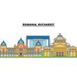 romania bucharest city skyline architecture vector image