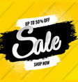 sale banner with blots vector image vector image