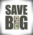 Save Big Fifty vector image