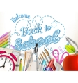 School supplies on white EPS 10 vector image