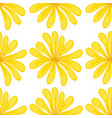 seamless pattern tile cartoon with yellow flower vector image vector image