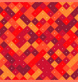 seamless pattern with red pixel squares vector image vector image
