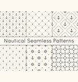 set 6 seamless geometric pattern vector image vector image