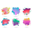 set abstract flowing liquid elements colorful vector image vector image