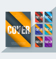 set of modern covers in the style of material vector image
