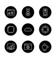 Set of seo search engine optimization icons
