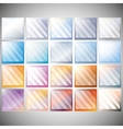 Set of transparent glass on color backgrounds vector image
