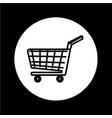 shopping cart icon design vector image