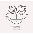 Simple Logo Template Plant Grapes vector image