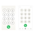 smartphone dial keypad vector image