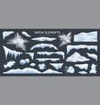 snow realistic set transparent vector image