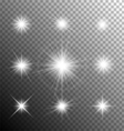Sparkling and shining stars vector image vector image