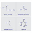 structural chemical formulas vector image
