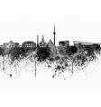 Stuttgart skyline in black watercolor on white vector image vector image