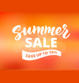 summer sale banner design template abstract vector image