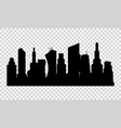 the silhouette city in a flat style on vector image