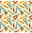 Tools seamless color pattern vector image
