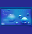 trendy abstract blue background for landing page vector image vector image