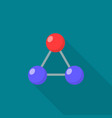 triangular molecule icon flat style vector image
