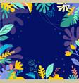 tropical jungle foliage vector image vector image