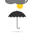 umbrella with sun vector image