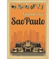 Vintage poster Grand Prix Sao Paulo vector image vector image