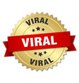 viral round isolated gold badge vector image vector image