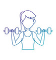 woman athlete weight lifting avatar vector image vector image