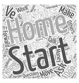 you started a home business now what word cloud vector image vector image