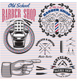 set of icons on a theme barber shop vector image