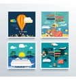 Air Tourism and World Travel Concept vector image