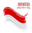 17 august indonesia independence day background vector image vector image