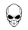 alien head isolated on white design element vector image