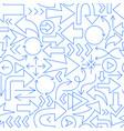 arrow line seamless pattern vector image vector image