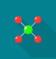 atomic molecule icon flat style vector image vector image