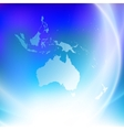 Australia map on the blue background vector image