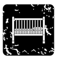 Baby bed icon grunge style vector image vector image