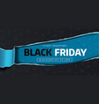 black friday sale banner poster logo black vector image vector image